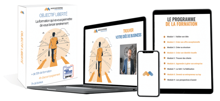 Packaging formation devenir entrepreneur